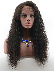 cheap -Peruvian Virgin Hair Deep Curly Glueless Lace Front Human Hair Wigs for Black Women Natural Hairline Lace Wigs With Baby Hair Natural Black Color