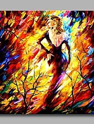 Недорогие -девушка в дереве декор стены рука расписала современные картины маслом современное произведение искусства стены