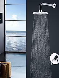 economico -Moderno Montaggio su parete Doccia a pioggia Valvola in ceramica Cromo , Rubinetto doccia