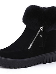 Women's Slippers & Flip-Flops Summer Comfort PU Casual Chunky Heel  Black White Walking