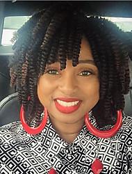 economico -Ricci Jheri Afro Bouncy Curl Riccio Treccine a boccoli Capelli ricci stile giamaicano Treccia colorata schiarita Capelli 100% Kanekalon