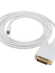 Mini Displayport Adapterkabel, Mini Displayport to DVI Adapterkabel Male - Male 1080P Vergoldetes Kupfer