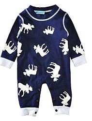 Baby Animal Print One-Pieces,Cotton Spring/Fall Winter Long Sleeve