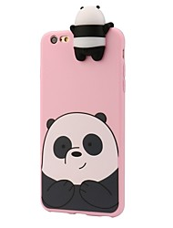 For iPhone 8 iPhone 8 Plus Case Cover Shockproof Pattern Back Cover Case 3D Cartoon Panda Soft Silicone for Apple iPhone 8 Plus iPhone 8