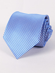 Men's Cotton Polyester Neck Tie,Neckwear Jacquard All Seasons Blue