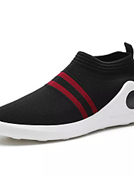 Men's Loafers & Slip-Ons Light Soles Spring Fall Tulle Walking Shoes Casual Flat Heel Black/White Black/Red 2in-2 3/4in