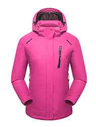 cheap -LEIBINDI Women's Hiking 3-in-1 Jackets Outdoor Winter Keep Warm Breathable Wearproof 3-in-1 Jacket Top Camping / Hiking Climbing Running