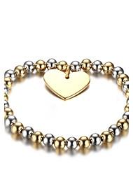 Per donna Bracciali a catena e maglie Di tendenza Vintage Elegant Acciaio al titanio A forma di cuore Gioielli Per Matrimonio