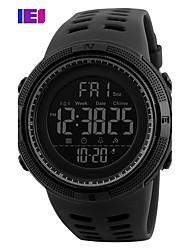 Недорогие -Муж. Спортивные часы Часы со скелетом Армейские часы Кварцевый Цифровой силиконовый Разноцветный 30 m Защита от влаги Будильник Календарь Цифровой Дамы Кулоны Роскошь На каждый день Кольцеобразный -