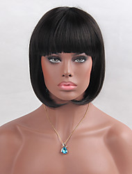 cheap -Graceful  Natural BoBo Hair  Medium-long Straight Hair Synthetic Wigs