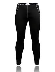WOSAWE Pantaloni da ciclismo Per uomo Bicicletta Pantaloni Ciclismo Asciugatura rapida Compressione Tessuto sintetico VelloTinta unita
