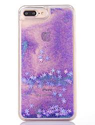 Caso para el iphone 7 más 7 caso cubra el patrón del copo de nieve que fluye la caja líquida del teléfono del materia de la PC del brillo