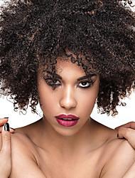 Femme Perruque Synthétique Sans bonnet Court Frisés Noir / Medium Auburn Perruque Naturelle Perruque Déguisement