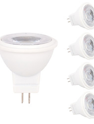 economico -5 pezzi 2W 180-210lm MR11 Faretti LED MR11 3 Perline LED SMD 2835 Decorativo Bianco caldo Luce fredda 12V