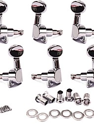 cheap -3L3R Chrome Acoustic Guitar String Tuning Pegs Tuners Machine Heads