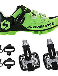 cheap -SIDEBIKE Bike Cycling Shoes With Pedals & Cleats Mountain Bike Shoes Adults' Anti-Shake/Damping Cushioning Wearable Anti-skidding