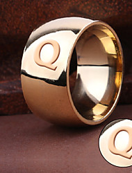 cheap -Korean jewelry classic smooth simple personality male golden wide men pull steel