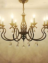 cheap -European Style Crystal Chandeliers Living Room Dining Lights  Simple Creative Candles Lamps And Lanterns Novelty Lightig