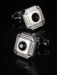 cheap -Geometric / Square Cut Silver Cufflinks Fashion / Gift Boxes & Bags Men's Costume Jewelry