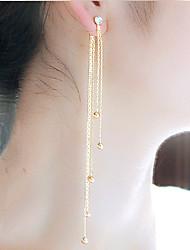 abordables -Femme Gland Strass Boucles d'oreille goutte - Gland / Mode Or / Argent Des boucles d'oreilles Pour Soirée / Quotidien