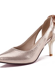 Femme Chaussures à Talons Confort Printemps Automne Polyuréthane Fleur Talon Aiguille Or Noir Argent 5 à 7 cm