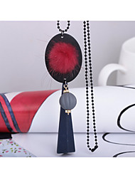 Недорогие -Жен. форма Мода Ожерелья с подвесками Плюшевая ткань Ожерелья с подвесками Свадьба Для вечеринок День рождения градация Подарок