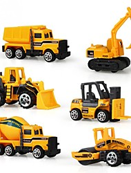 cheap -Vehicle Toy Cars Construction Vehicle Toys Plastics Aluminum Alloy Carbon Unisex 6 Pieces