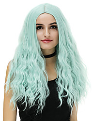 cheap -Women Long Purple Blue Rose/Green Silver Purple Gold Pink Loose Wave Middle Part Synthetic Hair CaplessNatural Wig Party Wig Halloween