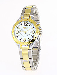 cheap -Women's Sport Watch Military Watch Wrist Watch Quartz Creative Casual Watch Cool Stainless Steel Band Analog Charm Luxury Vintage Silver / Gold - Gold White Black