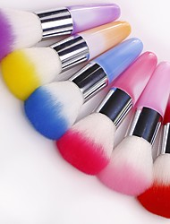 1PC Long Handle Color Nail Brushes Nail Art Tool Nail Salon Make Up