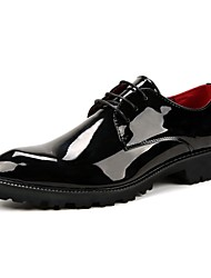 Men's Shoes PU Winter Fall Formal Shoes Wedding Shoes for Casual Party & Evening Black Red Blue