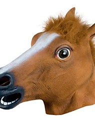 cheap -Halloween Mask / Animal Mask Horse / Horror Rubber / Glue Unisex Adults' Gift 1 pcs