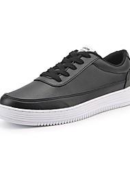 cheap -Women's Sneakers Light Soles Spring Fall PU Casual Dress Lace-up Flat Heel White Black Flat
