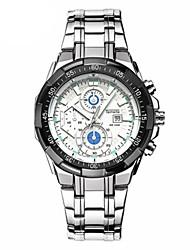 Недорогие -Муж. Модные часы Кварцевый Горячая распродажа Нержавеющая сталь Группа На каждый день Черный Серебристый металл