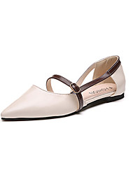 cheap -Women's Shoes PU(Polyurethane) Spring / Summer Comfort / Light Soles Sandals Flat Heel Pointed Toe Buckle Almond / Light Brown
