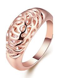 Femme Anneaux Bijoux Géométrique Mode Personnalisé Le style mignon Bling Bling bijoux de fantaisie Plaqué Or Rose Alliage Forme de Cercle