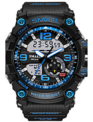 cheap -SMAEL Men's Sport Watch / Wrist Watch / Digital Watch Alarm / Water Resistant / Water Proof / LED Rubber Band Camouflage / Fashion Black / Luminous / Dual Time Zones / Two Years