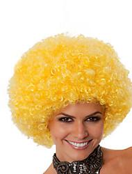 Parrucche sintetiche Senza tappo Medio Riccio Giallo Parrucca riccia stile afro Per donne di colore Parrucca Cosplay costumi parrucche