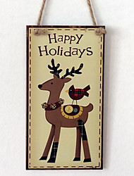 cheap -European and American wooden Christmas deer is listed for Christmas Eve Christmas deer wooden hanging board