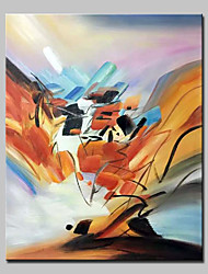 cheap -Hand-Painted Abstract Vertical, Abstract Modern Canvas Oil Painting Home Decoration One Panel