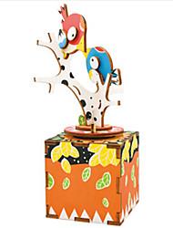 cheap -Music Box Wood Bird Horse Carousel Furnishing Articles DIY Classic Kid's Gift