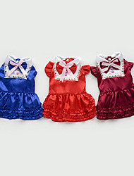 economico -Gatto Cane Vestiti Abbigliamento per cani Casual Da principessa Marrone Rosso Blu Costume Per animali domestici