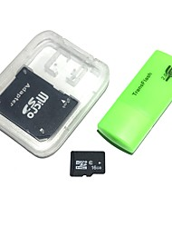 abordables -Carte mémoire 16gb microsdhc tf avec lecteur de carte usb et adaptateur sdhc sd