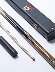 OMIN Snooker Cue Professional 1Piece cue Black Ebony Butt Ash shaft Handmade Billiard Cue Star Mark 9.5MM