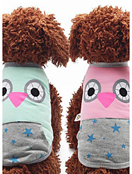 cheap -Dog Vest Dog Clothes Animal Pink Light Blue Cotton Down Costume For Pets Men's Women's Casual/Daily