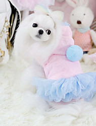 cheap -Dog Dress Dog Clothes Casual/Daily Princess Blue Pink Costume For Pets
