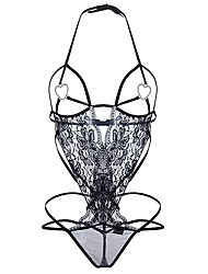 Women's Sexy Lace Lingerie Ultra Sexy Teddy NightwearSexy Lace Solid-Thin Translucent Cotton Polyester