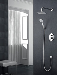 cheap -Shower Faucet - Modern Style Chrome Wall Mounted Ceramic Valve