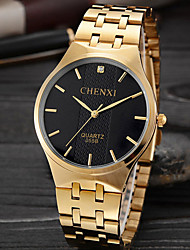 cheap -Men's Wrist Watch Japanese Water Resistant / Water Proof / Creative Stainless Steel Band Charm / Luxury / Casual Gold