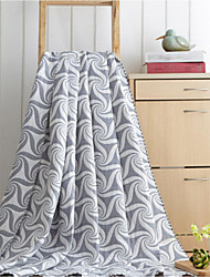 cheap -Flannel Geometric Cotton/Polyester Blankets